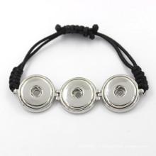 Bouton autocollant coloré et modulable pour bracelet et bracelet