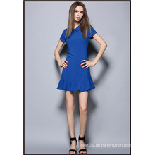 Fashion Damen Ol Berufs Swing Tail Dress