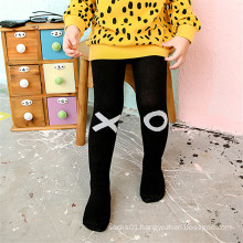 Jacquard Little Girl Cotton Tights Fancy Designs Black and White Color Tights Pantyhose