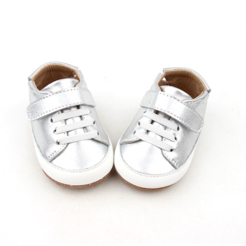 Kasut Sliver Color Baby Soft Sole Causal Shoes