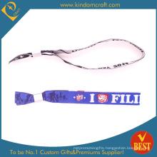 Fashion Custom Cheap Barcode Logo Woven Wristbands