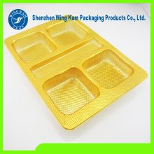 Emballage de boursouflure d'or de plateau de Mooncake en plastique