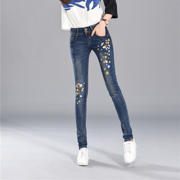 Jeans Female Summer Style Fashion Stickpatches