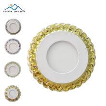 новые продукты квадратный кристалл модель круглые светодиодные две цветные панели 3 + 3 Вт