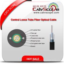Haute qualité GYXTW Metallic Strength Member Central Tube Filled Sheel-PE Gaine Extérieure Fibre Optique Câble