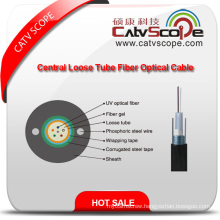High Quality GYXTW Metallic Strength Member Central Tube Filled Sheel-PE Sheath Outdoor Optical Fiber Cable