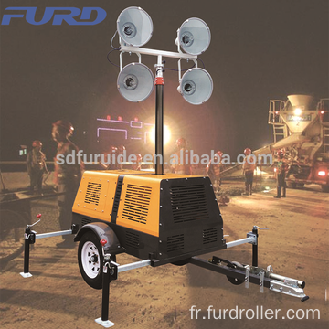 5kw/4-Light Metal Halide Towable Light Tower