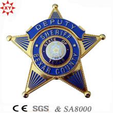 Металлический значок логотипа высокого качества для полиции
