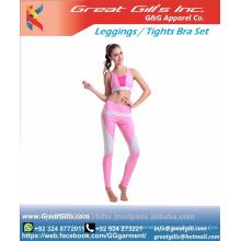 Ladies sportswear fitness wear active wear workout suit sports bra+pants set