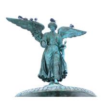 2018 de alta qualidade artesanato em metal bronze estátua de anjo alado