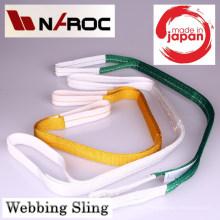Cinto de cintura para elevação de bagagem. Fabricado por Naroc Rope Tech. Feito no Japão (cinto de nylon)