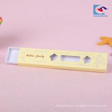 caja del cajón de la joyería de moda con ventana para collar