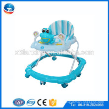 Hot sale cheap 8 wheels rolling baby walker with music and toys