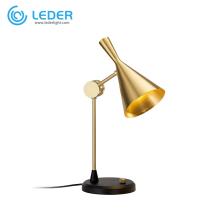 LEDER Vintage Beistelltischlampen