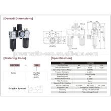 Combinación de aire BELNE pneumatoc EAC1000-5000 series
