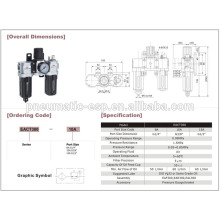 Пояс pneumatoc EAC1000-5000 серии сочетание воздуха