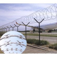 2016 heißer Verkauf hoher Sicherheitsoberseiten-Rasiermesserdraht Flughafenzaun für Verkauf