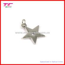 Fashion Star Shape Silver Metal Charm Pendant
