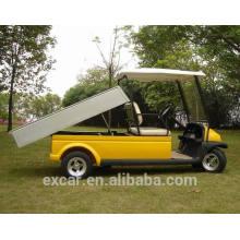 Preço veículo utilitário elétrico, carrinho de golfe 2seats com caixa de carga, carrinho de golfe da China