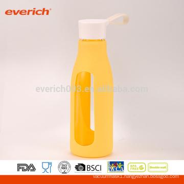 600ml Glass Juice Bottle, Glass Bottle, Milk Bottle With Handle Lid