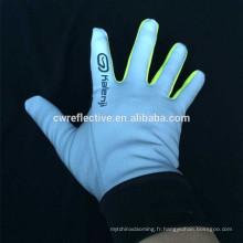 Tissu nylon réfléchissant pour gants de travail
