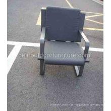 Um Seater exterior PE coxim mobiliário cadeira do Rattan