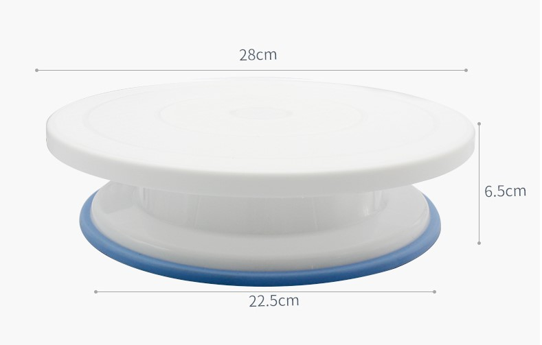 Revolving Plastic Cake Stand with Non-Slip Base (7)