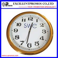Hochwertiger kundenspezifischer Logo-Druck-runder Plastikwand-Taktgeber (Einzelteil23)