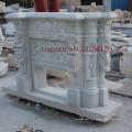 Lareira de mármore branco para decoração interior (SY-MF001)