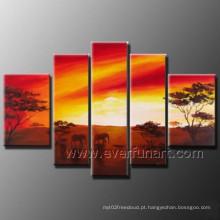 Arte moderna da parede da arte da pintura a óleo da pintura africana da arte na lona (AR-122)