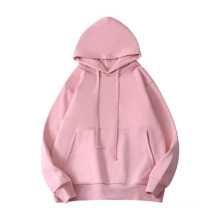 Fashion Sports and Leisure Solid Color Drop Shoulder Couple Hoodie