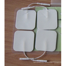 Pano branco de dez almofadas autoadesivas para liberação de dor