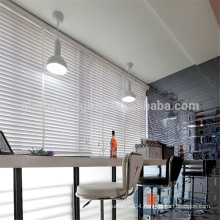Striped faux wooden window blinds for cafe