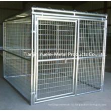 Лучшая собака клетка / квадратная труба собака Кейдж / верхний класс Маленькая собака клетка / тяжелый долг складной металл большой собаки собака Кейдж