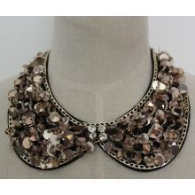 Moda jóias colar de lantejoulas garment colar falso (je0058-1)