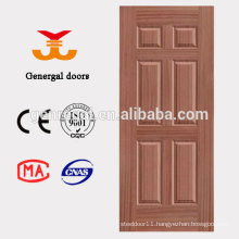 Six panel wooden painting molded skin door