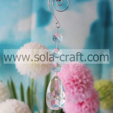 Fancy 16CM Clear Transparent Plastic Acrylic PearDrop Light Bead Garland Prism Craft