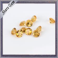 Gemstone citrino semi precioso do ouro redondo amarelo natural