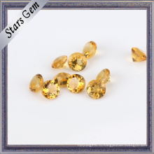 Природный Круглый Золотой Желтый Цитрин Полу Драгоценный Камень