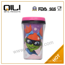 auto travel mug plastic auto mug with photo insert
