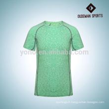 Chemise de compression de sport haute qualité hommes colorés avec trois couleurs
