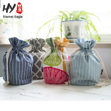 Small and exquisite printing canvas drawstring bag