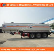Reboque líquido químico do tanque de 3 eixos