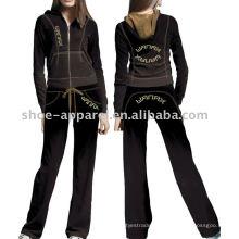 trilha do veludo sere o projeto uniforme do sportswear para mulheres