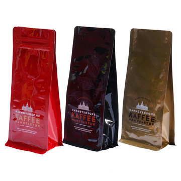 Foil Bags Paper Printed Coffee Bag With Zipper