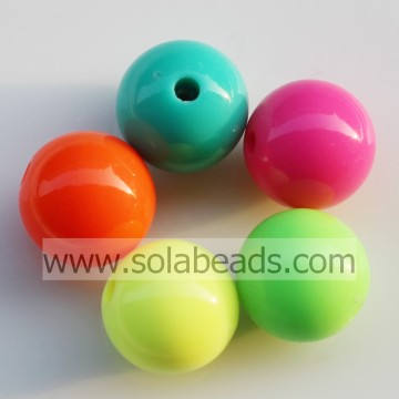 Hot verkopen 16mm ronde Gumball-Tiny Acryl kralen