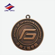 Античная медь литье медалью школу округлость изготовленный на заказ металл