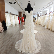Luxury Cap Sleeves Ball Gown Wedding Dress Bridal Gown