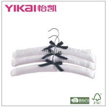 Set of 3pcs pure white satin padded hanger