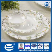 Элегантные бытовые новые костяные фарфоровые тарелки с салатницей